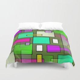 Color Structure Duvet Cover
