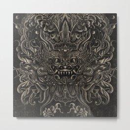 Engraved Bali Smile Metal Print