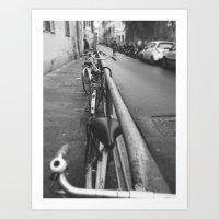 bikes Art Prints featuring Bikes by Shalyn Dawn