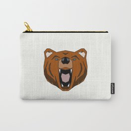 Geometric Bear - Abstract, Animal Design Carry-All Pouch