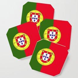 Portugal flag emblem Coaster