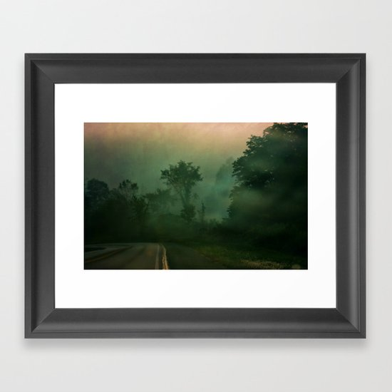 Jump in to the Fog Framed Art Print