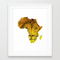 musa Framed Art Prints featuring King Of The Jungle! by DeMoose_Art
