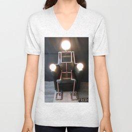 Lamp Man - FredPereiraStudios_Page_15 Unisex V-Neck