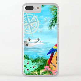 Tropical Travels Clear iPhone Case