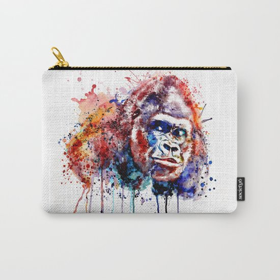 Gorilla Watercolor portrait Carry-All Pouch