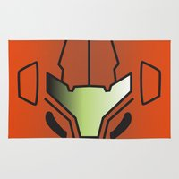 metroid Area & Throw Rugs featuring Metroid Samus by JAGraphic