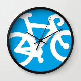 Blue Bike Wall Clock