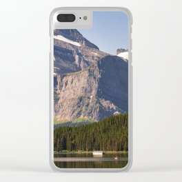 Grinnell Point and Swiftcurrent Lake in Glacier National Park Clear iPhone Case