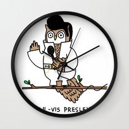 Owlvis Presley Wall Clock