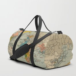 Vintage world map Duffle Bag