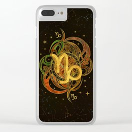 Capricorn Zodiac Sign Earth element Clear iPhone Case