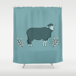 Green Sheep on Fleek Shower Curtain