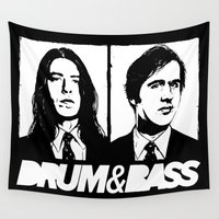 nirvana Wall Tapestries featuring Nirvana DNB by Grym Life