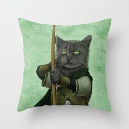 Ranger Cat Throw Pillow