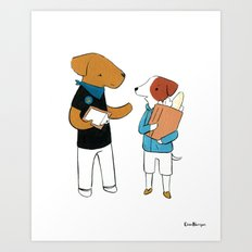 Airedale Terrier Community Organizer (Dogs with Jobs series) Art Print