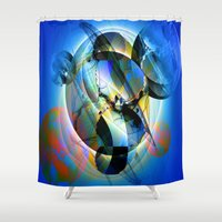 joy division Shower Curtains featuring Division by Tami Cudahy