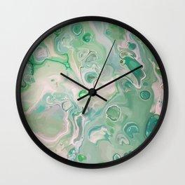 Green maze Wall Clock