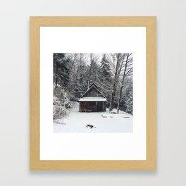 Ma cabane au Canada Framed Art Print