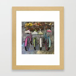 Greatest of These Bikes Framed Art Print