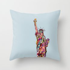 the french gift: statue of liberty Throw Pillow