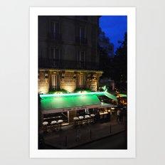 Le Cafe de la Place Art Print