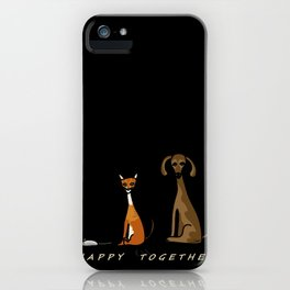Happy Together - Black iPhone Case