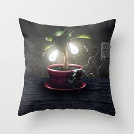 Chlorophyll Corona Throw Pillow