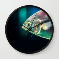 swim Wall Clocks featuring Swim by Iain Christopher Mclellan Bastidas