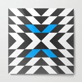 Blue Arrow Pattern  Metal Print