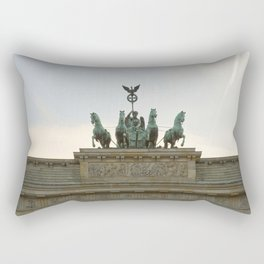 Victory, Brandenburger Gate statue Berlin Rectangular Pillow