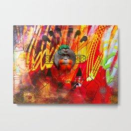 Save orangutans Metal Print