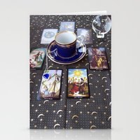 tarot Stationery Cards featuring Tarot tea by theedwardiangirl