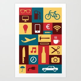 Tools for life Art Print