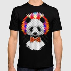 Geo Panda Mens Fitted Tee MEDIUM Black