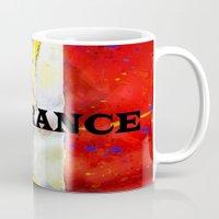 france Mugs featuring FRANCE by Brian Raggatt