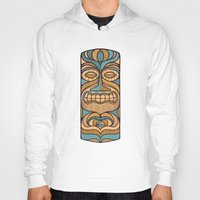 tiki Hoodies featuring Tiki by Brad Hansen