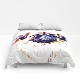 Lion Dog (white background) Comforters