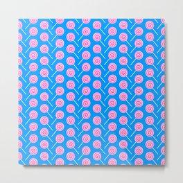 Sweet Pink Candy Lollipops Metal Print