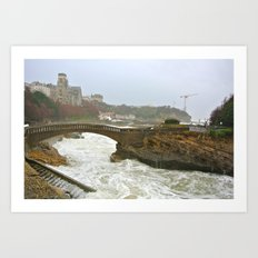 Waves in Biarritz Art Print