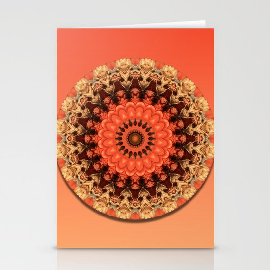 Pumpkin Kaleidoscope Stationery Cards