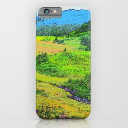 Alaska's Kenai Peninsula - Watercolor iPhone Case