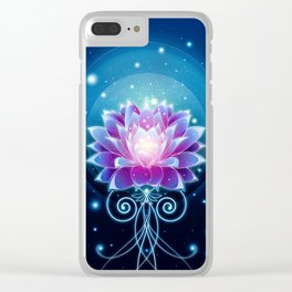 Dreamy Lotus Clear iPhone Case