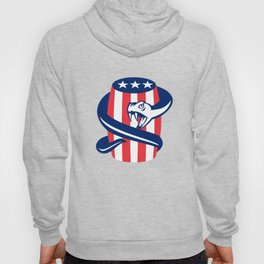 Viper Coiling Up Keg USA Flag Retro Hoody