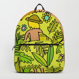 Wander On // Single fin Twin Fin surf art tropical Backpack