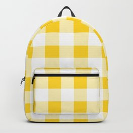 Yellow and White Buffalo Check Backpack