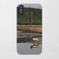 Bull Elk Crossing a River in Yellowstone Slim Case iPhone X
