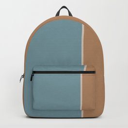 Salmon and Blue Rectangles Backpack