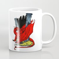 smaug Mugs featuring Smaug the Stupendous by Lydia Joy Palmer