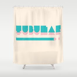 80s Tubular Shower Curtain